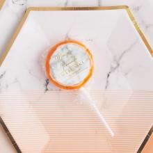 LIZAKI na panieński Marble Peach (+etykiety) 10szt