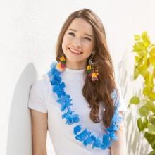 NASZYJNIK długi Hawajskie Party NIEBIESKI KONIEC SERII