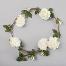 GIRLANDA kwiatowa Ozdobne Róże OKAZAŁA 160cm OSTATNIA SZTUKA
