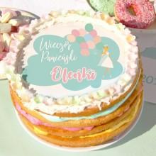 OPŁATEK personalizowany na tort Balloons Ø20cm