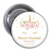 PRZYPINKA personalizowana na panieński Unicorn Jednorożec