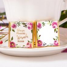 CZEKOLADKA na panieński Z IMIENIEM Flowers&Stripes