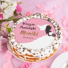 OPŁATEK personalizowany na tort Bride Ø20cm