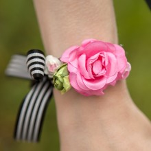OPASKA na rękę z kwiatami Flowers&Stripes