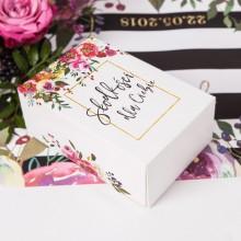 PUDEŁKO na słodkości dla Panny Młodej Flowers&Stripes