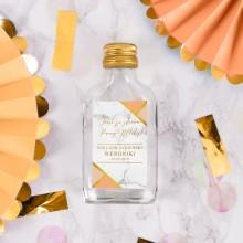 ETYKIETY personalizowane na mini wódkę Marble Peach 16szt