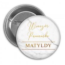 PRZYPINKA personalizowana na panieński Marble