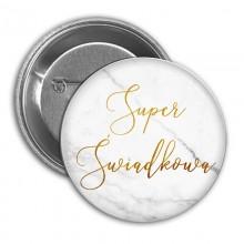 PRZYPINKA Super Świadkowa Marble (22)