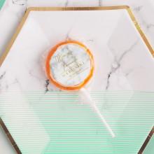 LIZAKI na panieński Marble Mint (+etykiety) 10szt