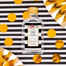 ETYKIETY personalizowane na mini wódkę Flowers&Stripes 16szt