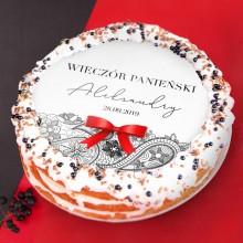 OPŁATEK personalizowany na tort Rouge Sensuelle Ø20cm