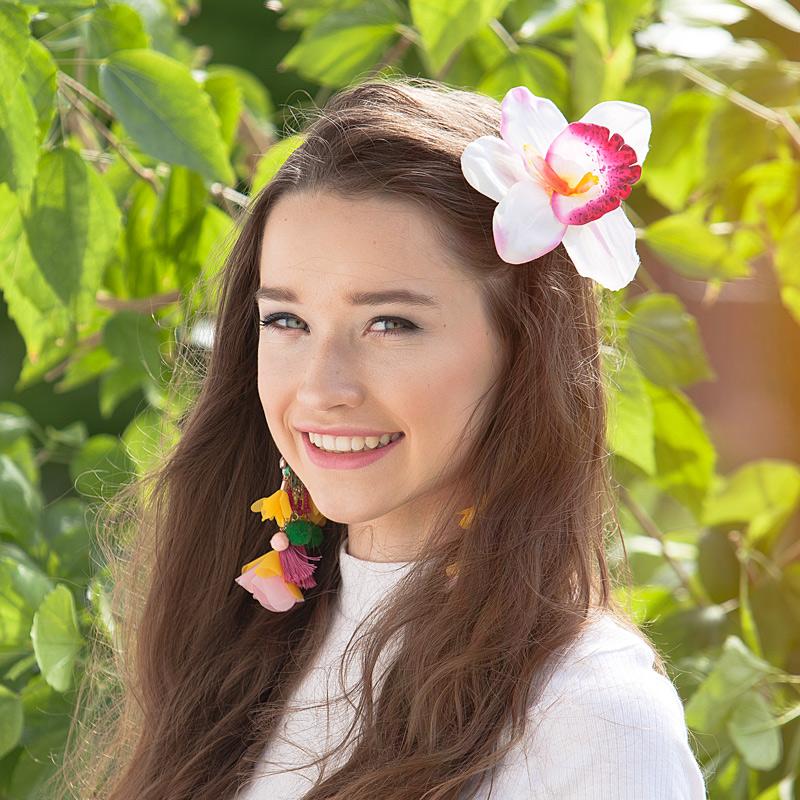 Przypinki Do Włosów Hawajskie Kwiaty Białe 4szt Sklep