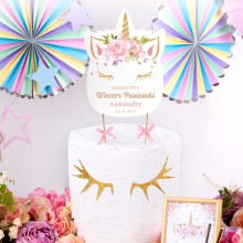 TOPPER na tort personalizowany Unicorn Jednorożec + IMIĘ