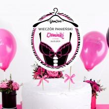 TOPPER na tort personalizowany Glam Diva + IMIĘ