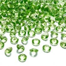 DIAMENCIKI ozdobne na stoły 100szt JASNOZIELONY