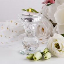 ŚWIECZNIK na tealight i prostą świecę 2w1 kryształowy LUX OSTATNIA SZTUKA