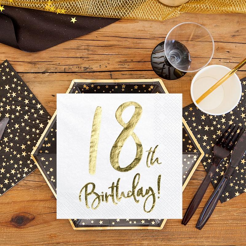 serwetki na 18 urodziny serwetki urodzinowe