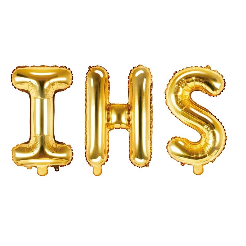 Balony foliowe na Komunię IHS
