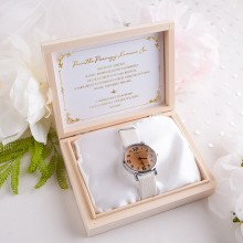 PAMIĄTKA I Komunii Świętej prezent dla dziecka Pudełko na zegarek Z IMIENIEM