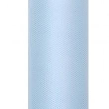 TIUL dekoracyjny 15cmx9m BŁĘKITNY