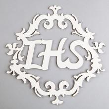 NAPIS drewniany ozdobny IHS ORNAMENT 33cm