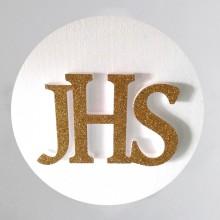 HOSTIA styropianowa duża ze złotym IHS 50cm