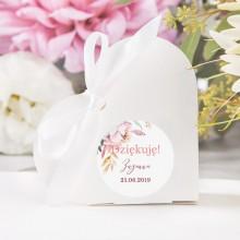 PUDEŁECZKA SERCA na Komunię i Chrzest Subtelny Róż (+etykiety z imieniem+białe wstążki) 10szt