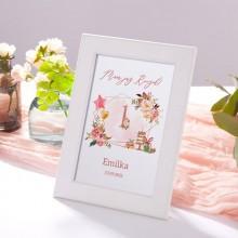 DEKORACJA stołu na Roczek Tabliczka Rosegold (+ramka)