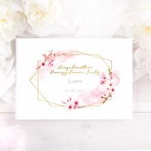 KSIĘGA Pamiątkowa I Komunii Kwiat Wiśni Z IMIENIEM