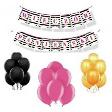 ZESTAW balonów na panieński Flowers&Stripes -10%