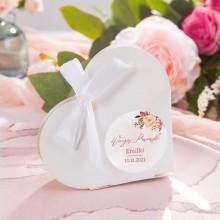 PUDEŁECZKA serca Rosegold Flowers (+etykiety+białe wstążki) 10szt