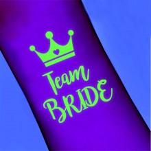TATUAŻ Team Bride z koroną BIAŁY ŚWIECI W CIEMNOŚCI KONIEC SERII