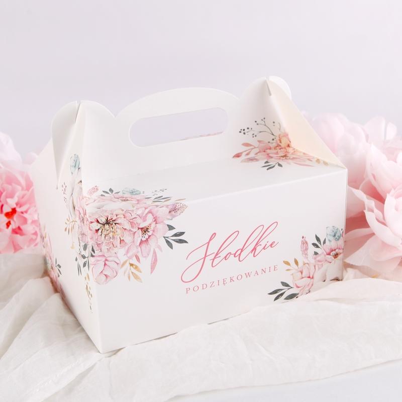 pudełka na ciasto na chrzest