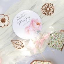 TOPPER na tort personalizowany Zapach Piwonii WERSJA I + IMIĘ