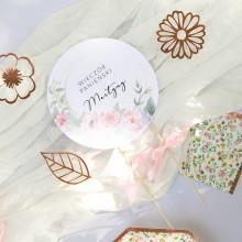 TOPPER na tort personalizowany Zapach Piwonii WERSJA II + IMIĘ