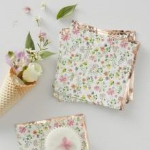 SERWETKI papierowe Kolorowe Kwiaty ROSEGOLD 24x24cm 16szt