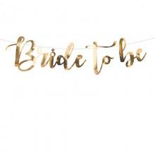 GIRLANDA na panieński Bride to Be ZŁOTA