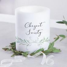 ŚWIECA/LAMPION zapachowa na Chrzest Lily of the Valley 12cm/10cm DUŻA