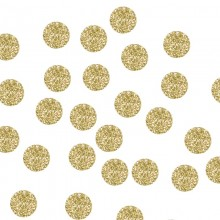 KONFETTI brokatowe kółka Złote Brokat 20szt