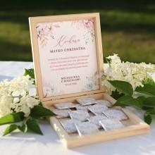 PODZIĘKOWANIE dla Chrzestnych/Dziadków na Komunię z czekoladkami Z IMIENIEM Subtelny Róż