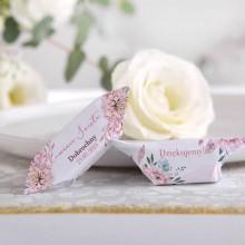 KRÓWKI podziękowanie na Komunię Subtelny Róż Z NADRUKIEM 20szt