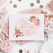 KSIĘGA Pamiątkowa I Komunii Rosegold Flowers Z IMIENIEM