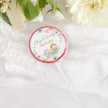LIZAKI Smaki Dzieciństwa na Chrzest Chłopiec w Kwiatach (+etykiety z imieniem) 10szt