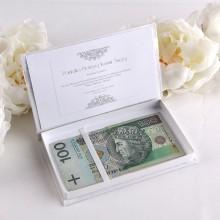 PAMIĄTKA I Komunii pudełko na pieniążki Z IMIENIEM Srebrna Hostia