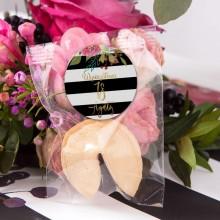 CIASTECZKO z wróżbą na 18 Flowers&Stripes (+etykieta z imieniem)