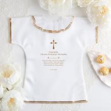 SZATKA do Chrztu z imieniem i datą Złoty Krzyżyk ZŁOTA