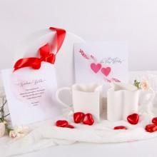PREZENT na ślub dla Pary Młodej w pudełku KUBECZKI w kształcie serca