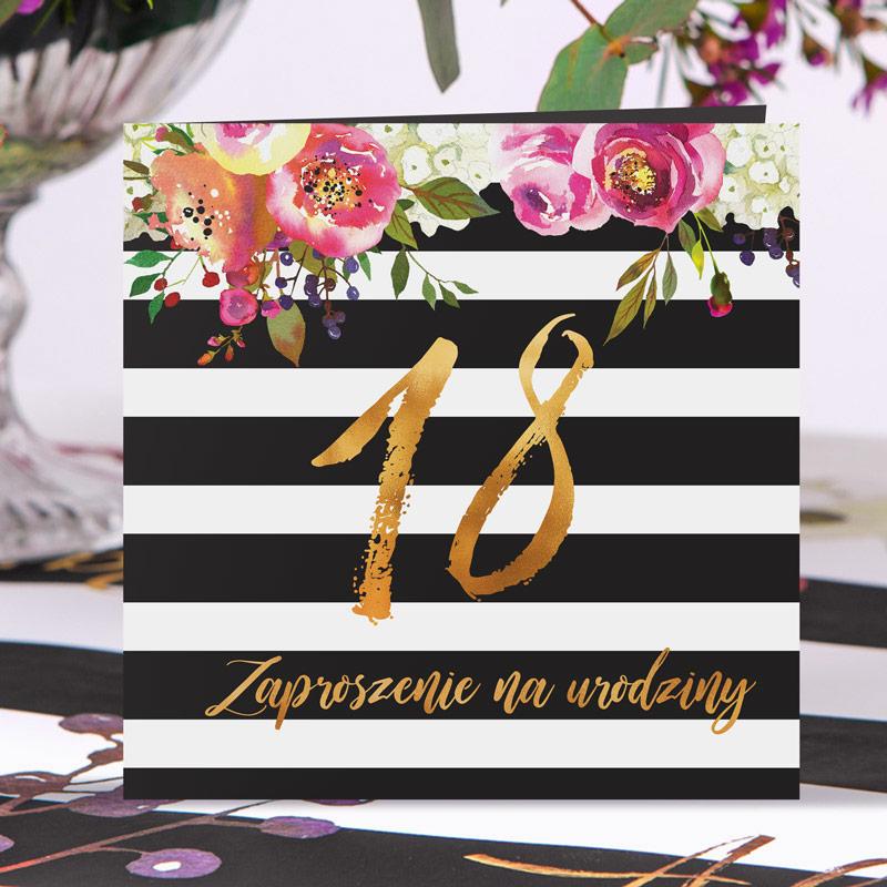 zaproszenia na 18 kwiatowe