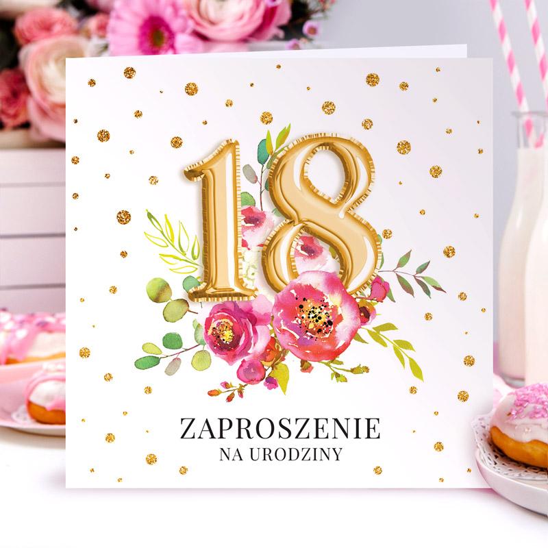 zaproszenia na 18 urodziny dziewczyny
