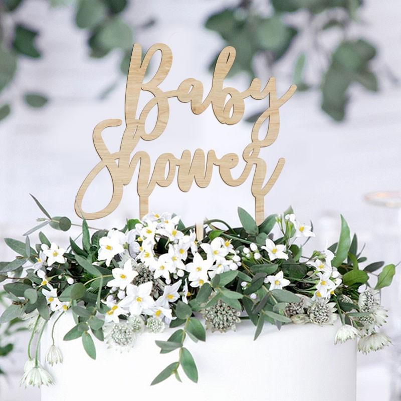 dekoracje tortu na baby shower